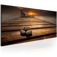 Schilderij - Stenen op de pier