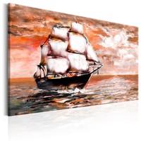Schilderij - Zee Odyssee (print van handgeschilderd)