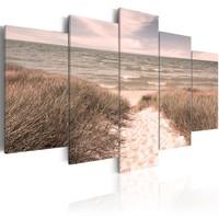 Schilderij - Zomer Symfonie, Noordzee, 5 delen