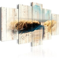 Schilderij - Herinnering aan de zomer, Noordzee, 5 luik