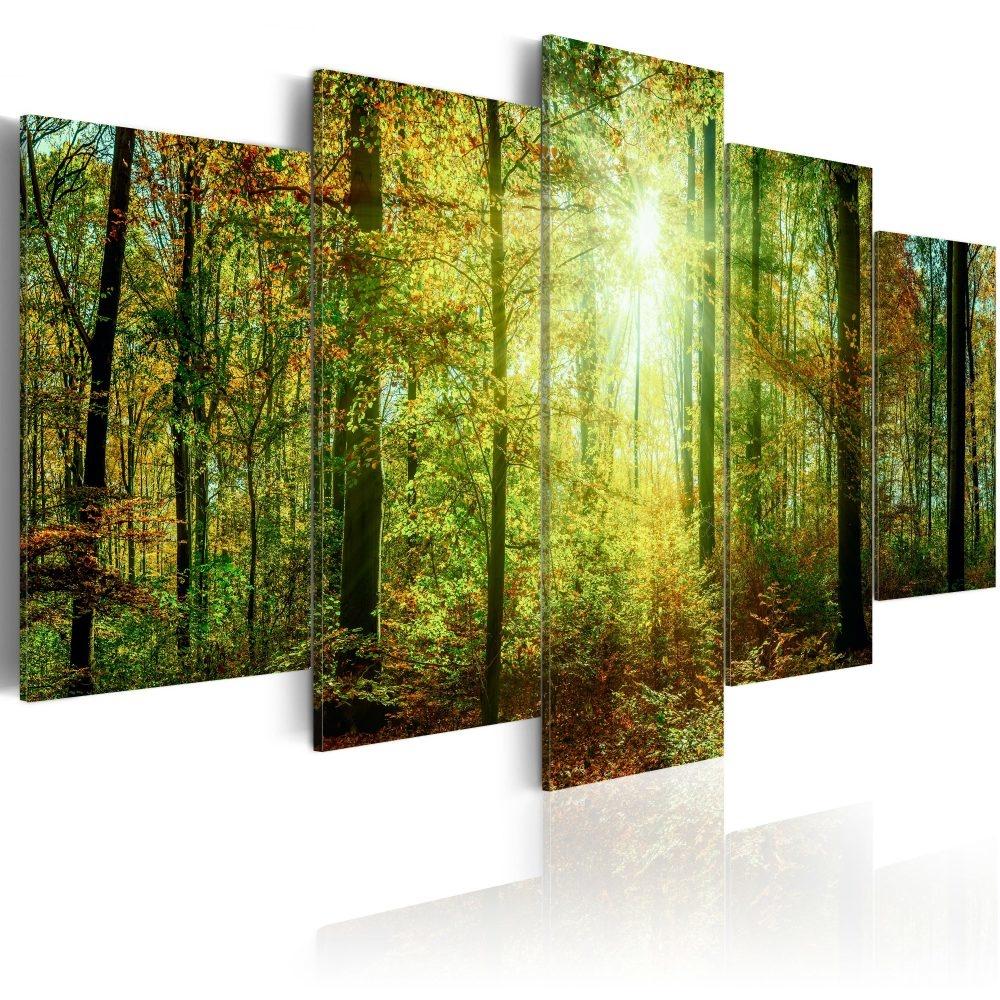 Schilderij - Wild Bos, 5luik