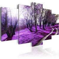 Schilderij - Lavendel Boomgaard, 5luik