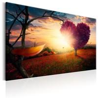 Schilderij - Liefde voor de Natuur 60x40