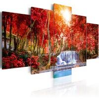 Schilderij - Waterval van Zuchten, 5luik