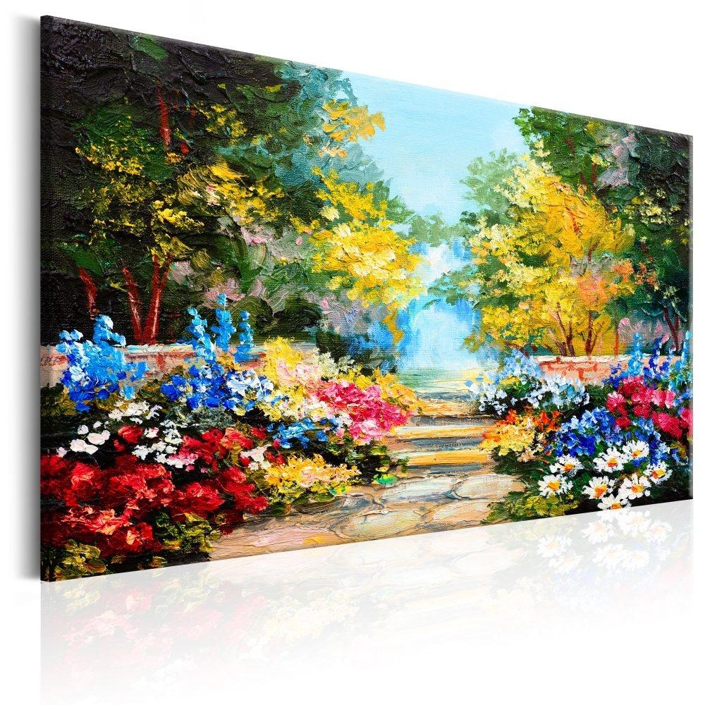 Schilderij - Bloemen Laan