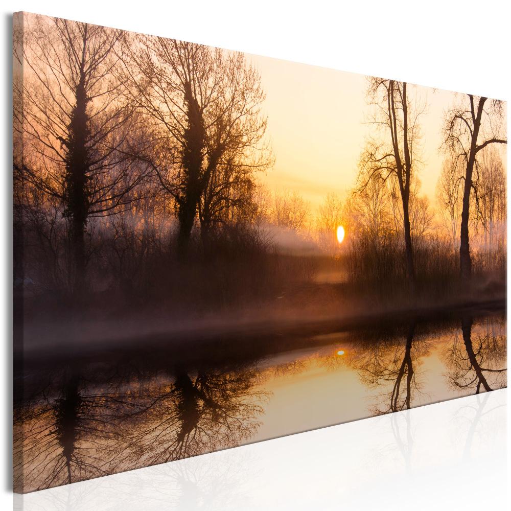 Schilderij - Zonsondergang in de Winter