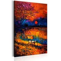 Schilderij - Kleuren van de Herfst