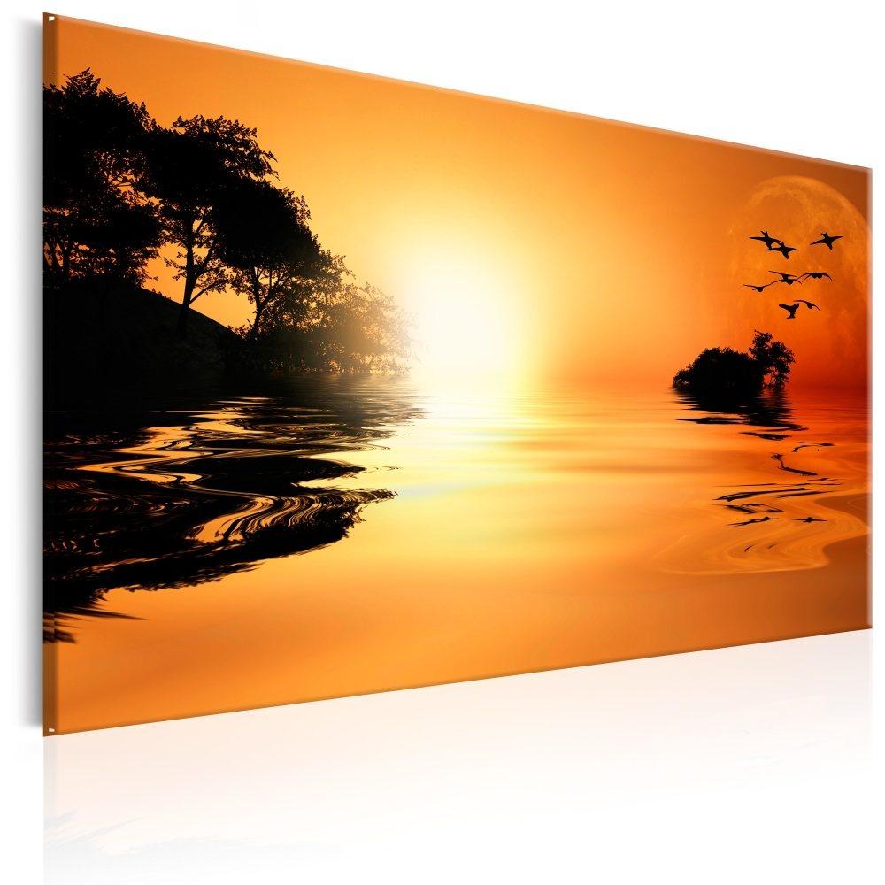 Schilderij - Eiland van Zonsondergang