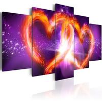 Schilderij - Vlammende liefde, 5 luik