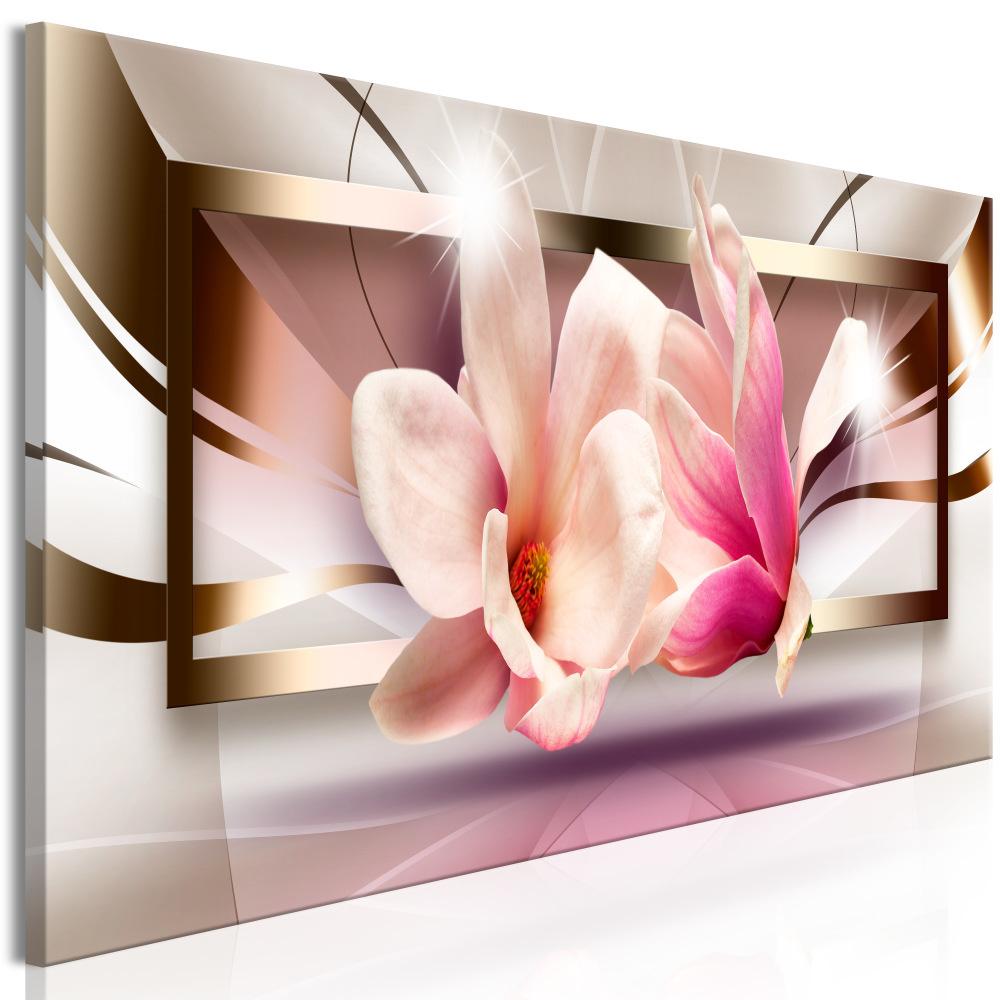 Schilderij - Bloemen buiten het frame