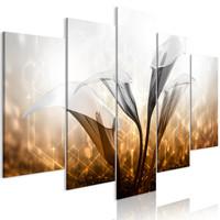 Schilderij - Bloemenkwartet, 5luik