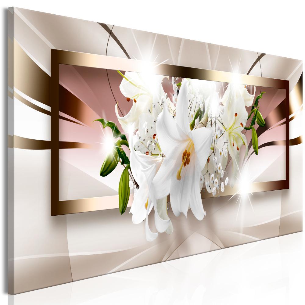 Schilderij - Orchidee uit het kader