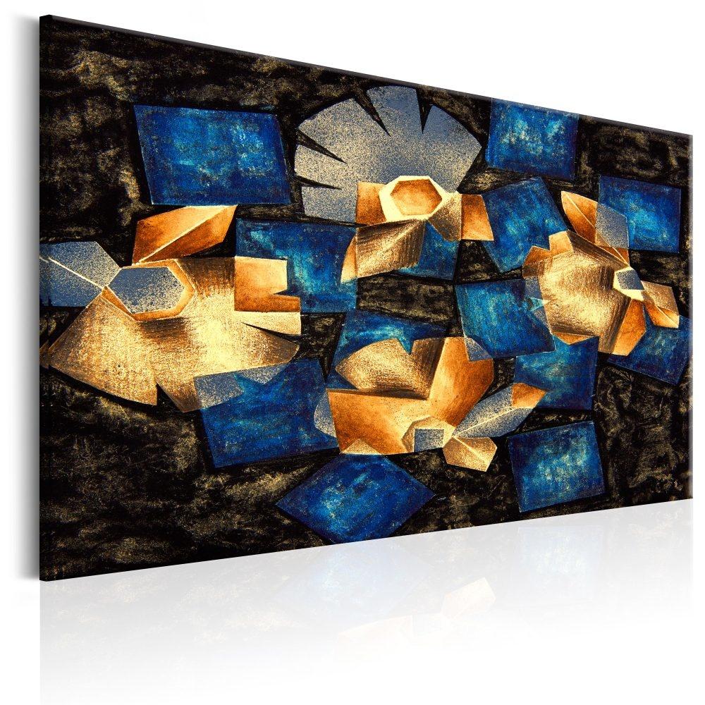 Schilderij - Geometrische bloemen