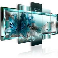 Schilderij - Hemelsblauwe lelies, 5luik