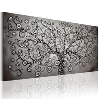 Schilderij - Zilveren boom