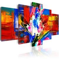 Schilderij - Krachtige kleuren, 5luik