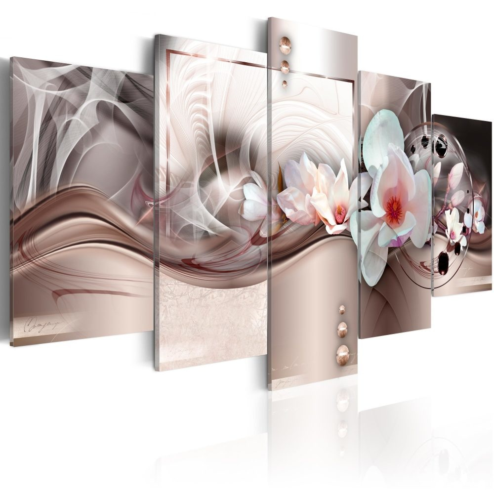 Schilderij - Roze Mysterie, 5luik