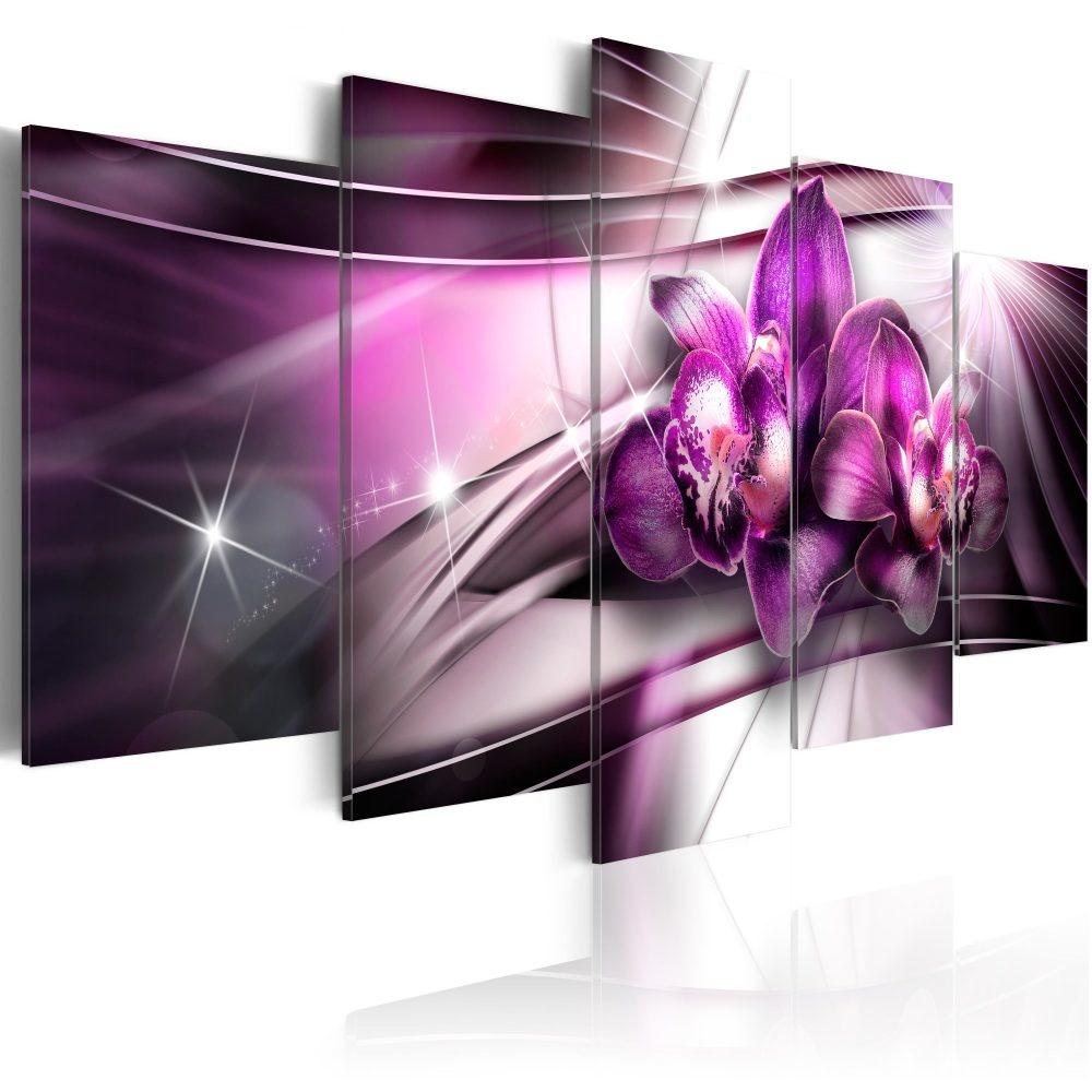 Schilderij - Duo Orchidee, 5luik - 200x100 cm