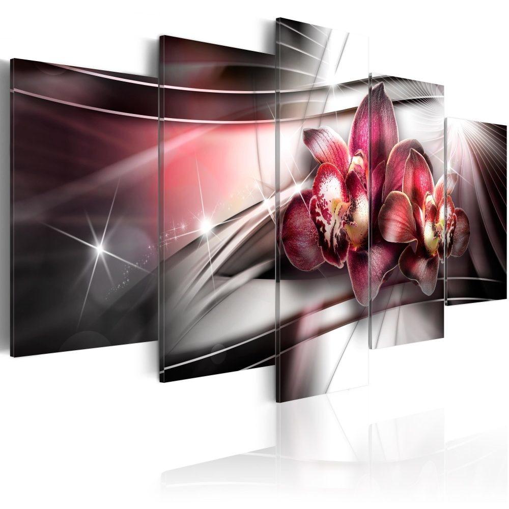 Schilderij - Donkere Schoonheid, 5luik - 200x100 cm