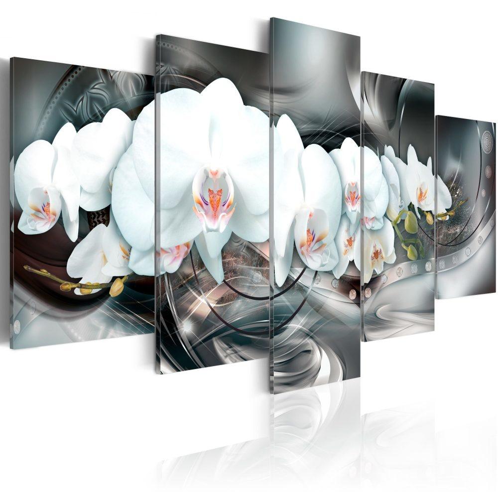 Schilderij - Magische orchidee, 5luik