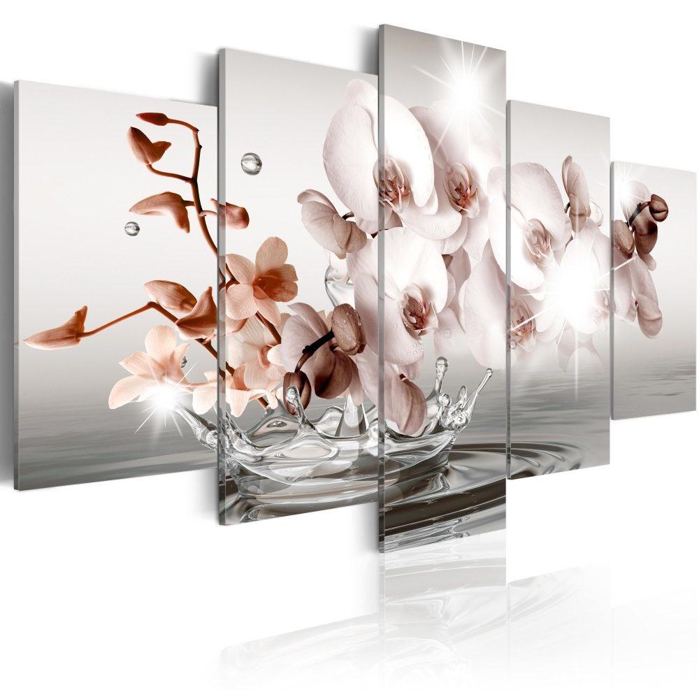 Schilderij - Ochtend Sonate, 5luik - 200x100 cm