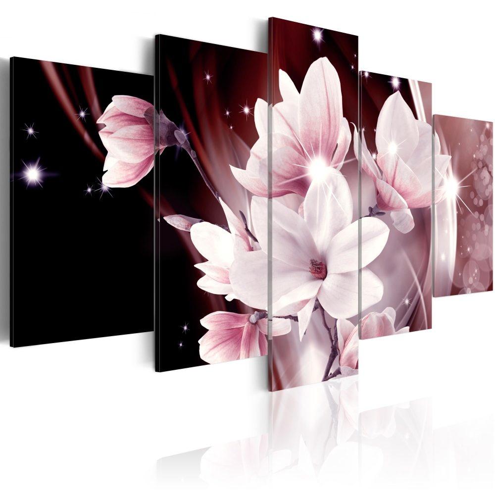 Schilderij -Bloemenmuze, 5luik