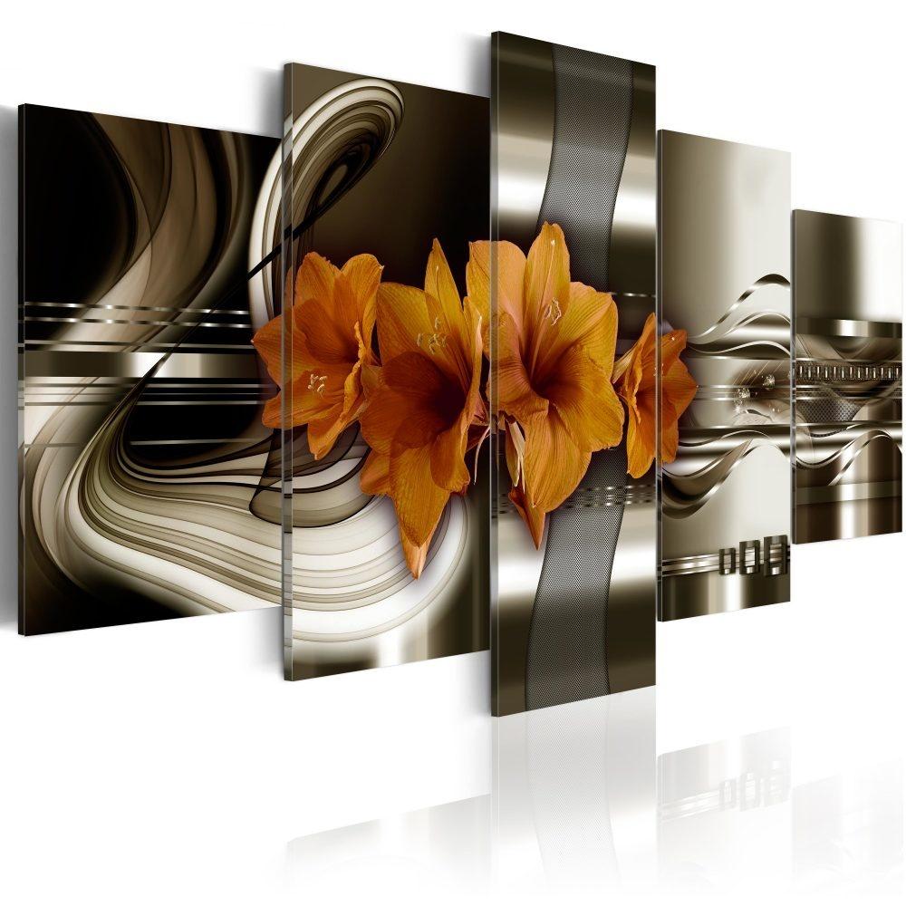 Schilderij - Abstracte Golven, 5luik