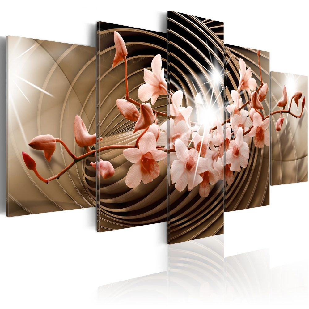 Schilderij - Desert Spiral, 5luik - 200x100 cm