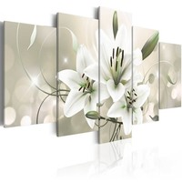 Schilderij - Celadon Beauty, 5luik