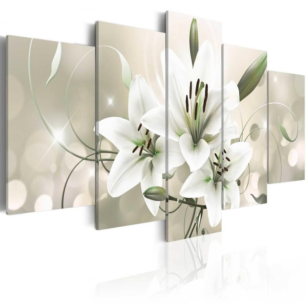 Schilderij - Celadon Beauty, 5luik - 200x100 cm