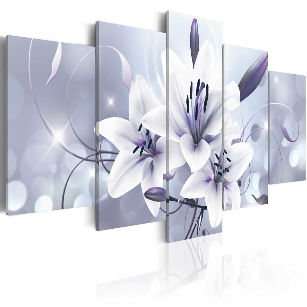 Schilderij - Amethist Genade, 5luik - 200x100 cm