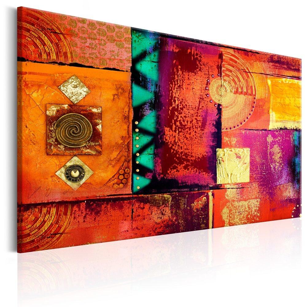 Schilderij - Abstracte Chaos -  1 luik - 90x60 cm