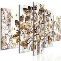 Schilderij - Boom van Blijdschap, 5luik, 225x100