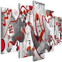 Schilderij - Tussen de Golven, 5luik