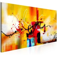 Schilderij - Melodieën van de Straat, 120x60
