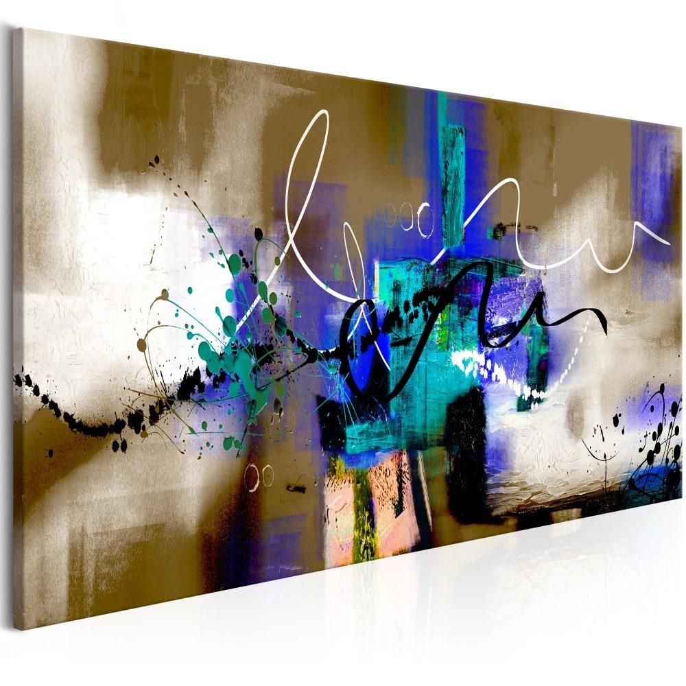 Schilderij - Gekke Kronkels , premium print, 3 maten