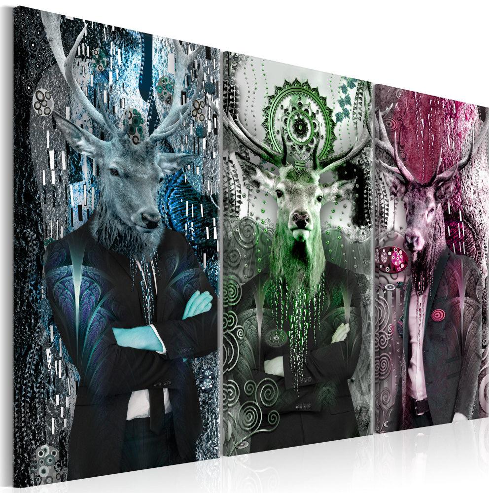 Schilderij - Dieren Trio, 3luik
