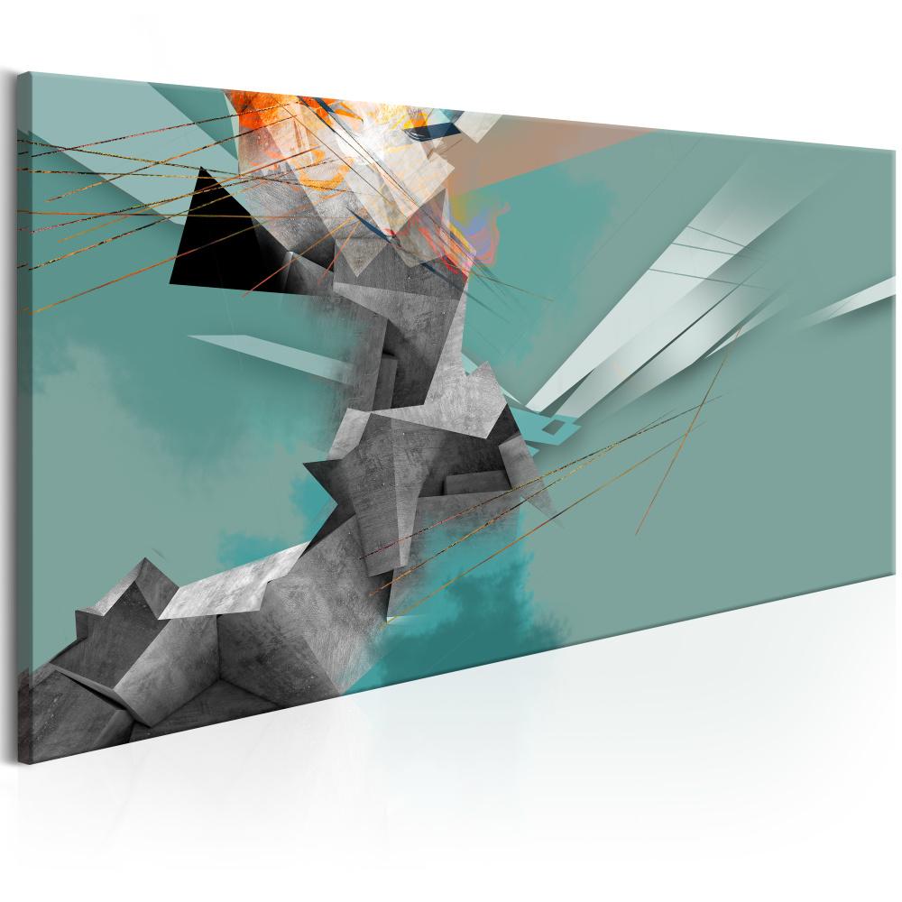 Schilderij - Geometrische Gekte