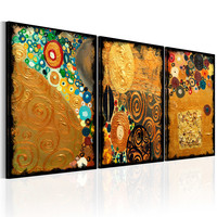 Schilderij - Gouden Verbeelding, 3luik