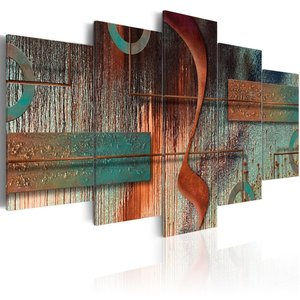 Schilderij - Abstracte Melodie , 5 luik