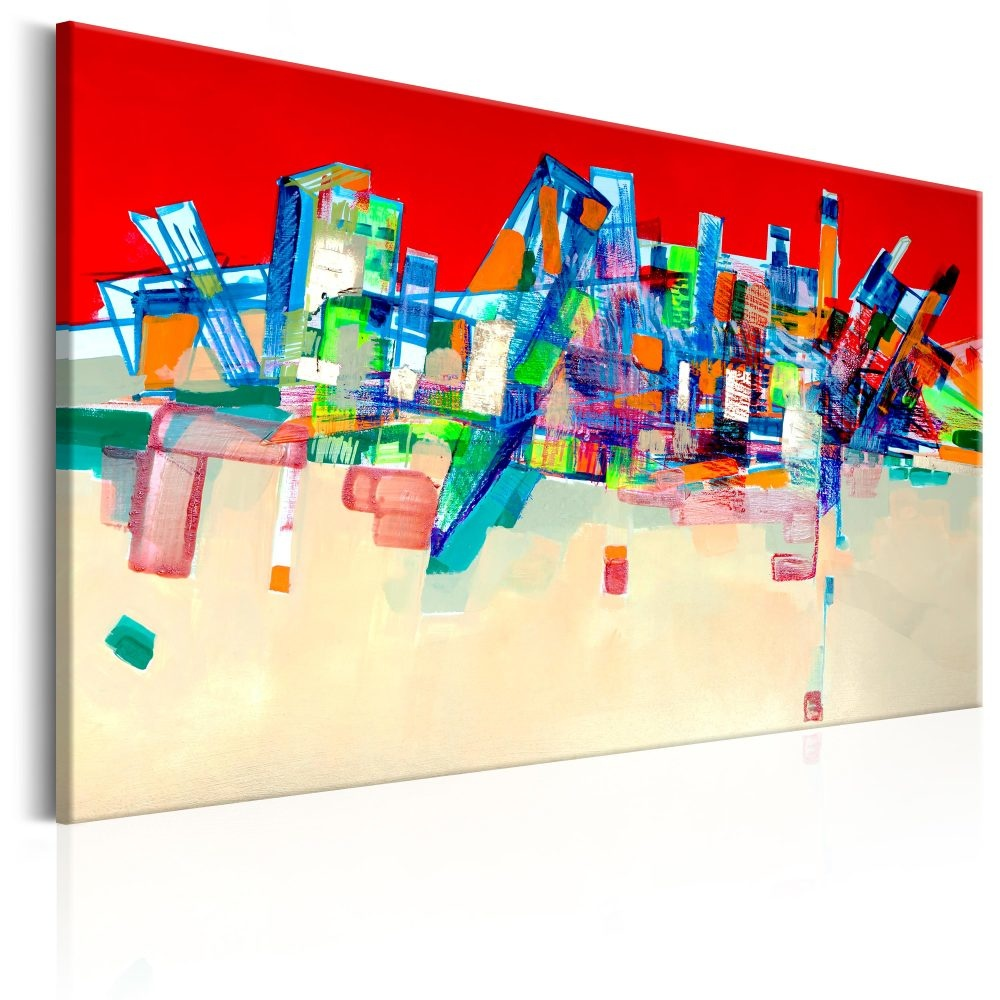 Schilderij - Abstracte Architectuur