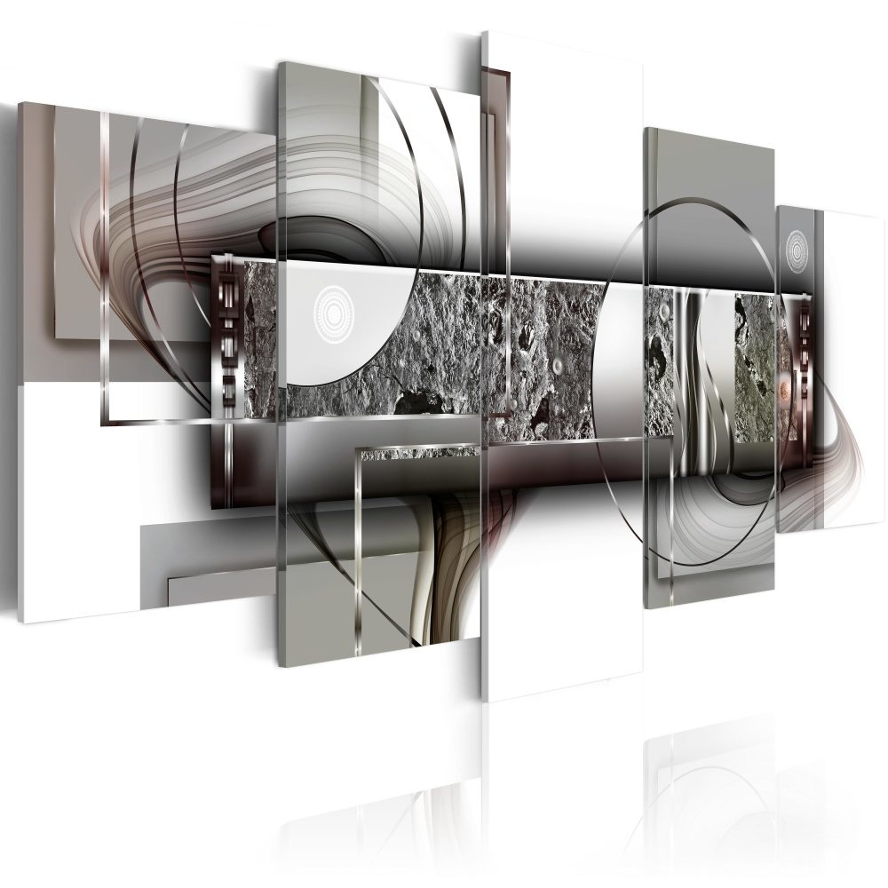 Schilderij - Abstracte Structuur , 5 luik
