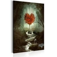 Schilderij - Liefdes Bos