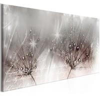 Schilderij - Dauwdruppels 100x45
