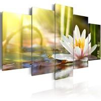 Schilderij - Zonnige Lotus, 5luik