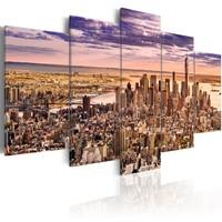 Schilderij - Slapeloos in New York , 5 luik