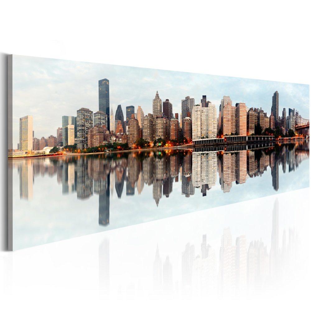 Schilderij - Ochtend - Manhattan , New York