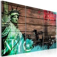 Schilderij - New York City collage II , 3 luik