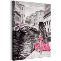 Schilderij - Vrouw in venetië