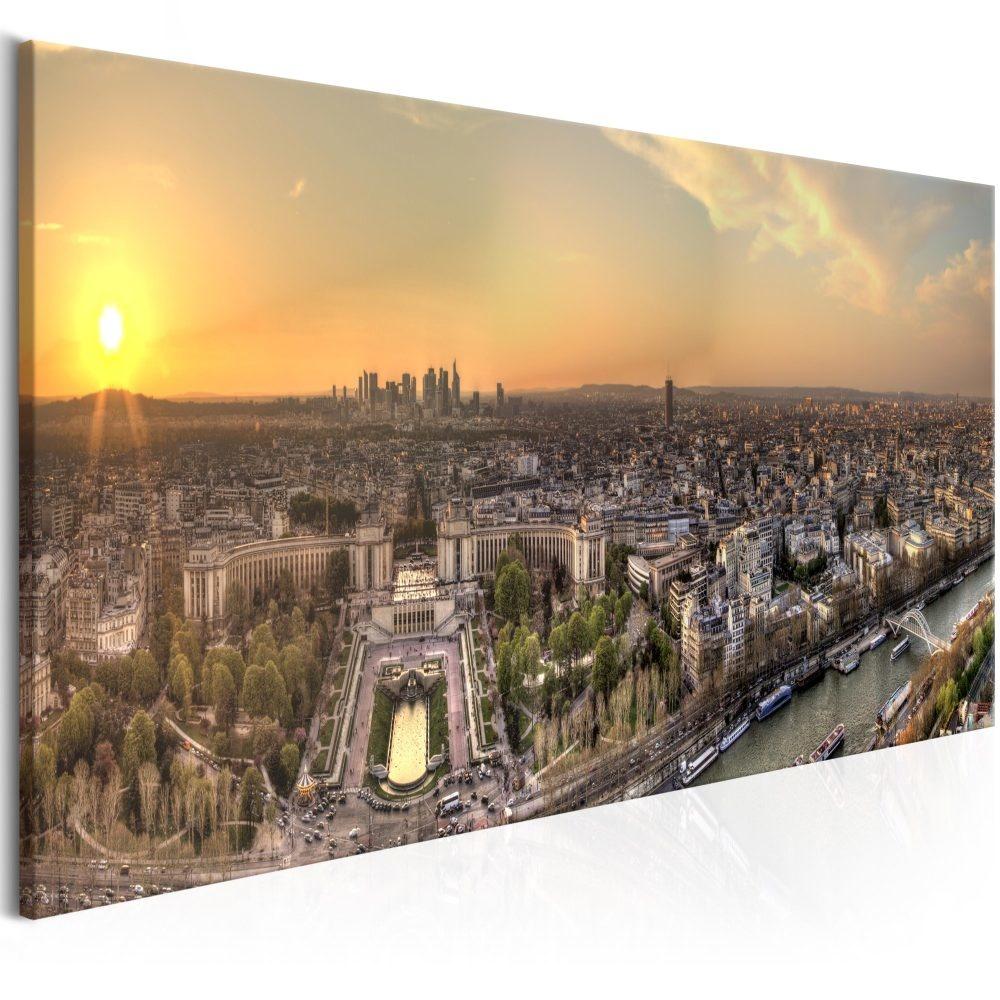 Schilderij - Uitzicht van de Eiffeltoren